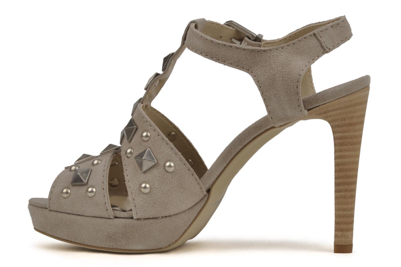 Sandales et nu-pieds Eden Oreade Beige vue face