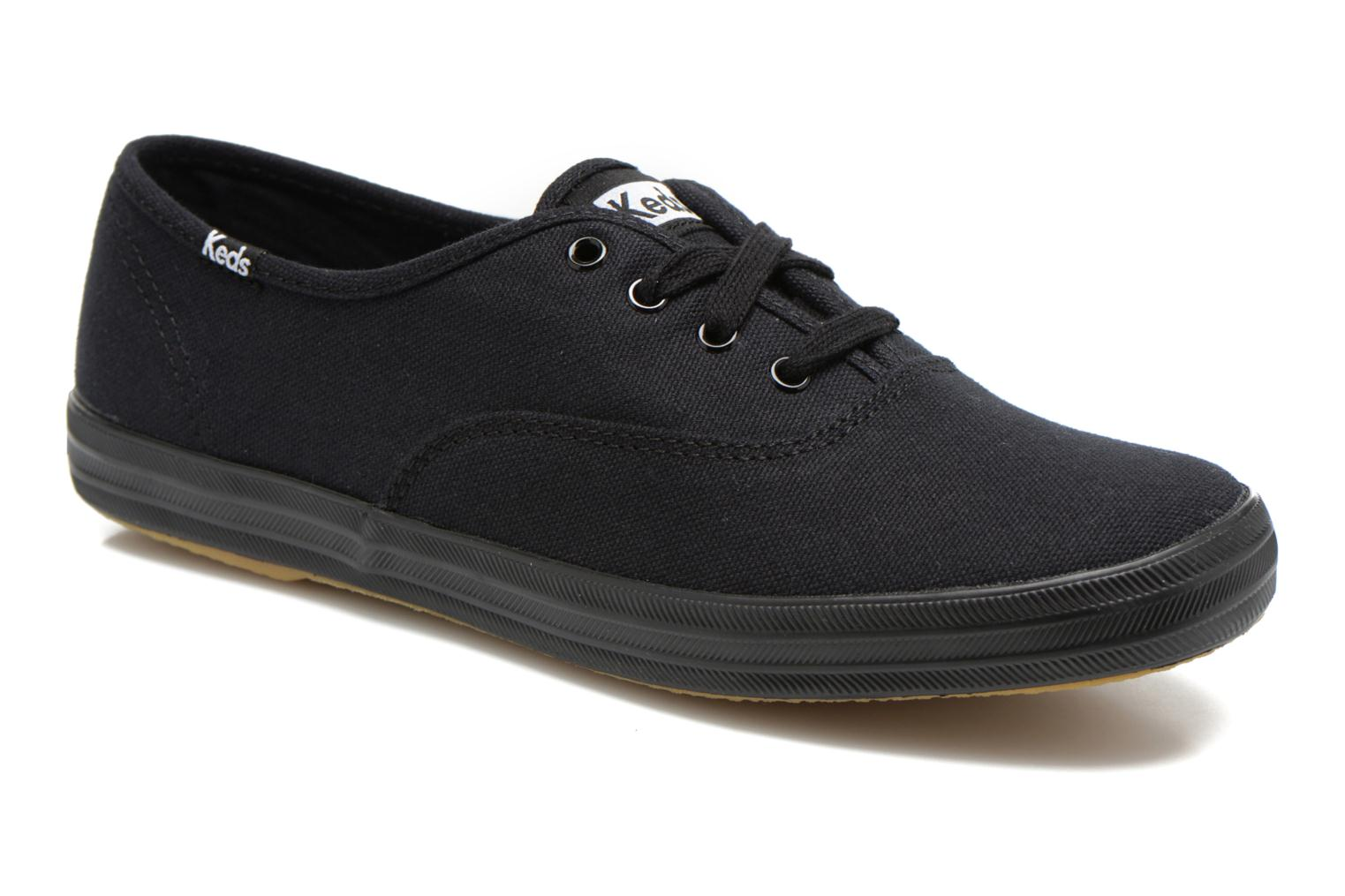 Baskets Keds Champion Canvas Noir vue détail/paire
