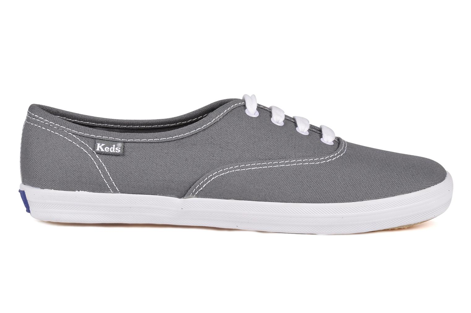 Trainers Keds Champion Canvas Grey back view