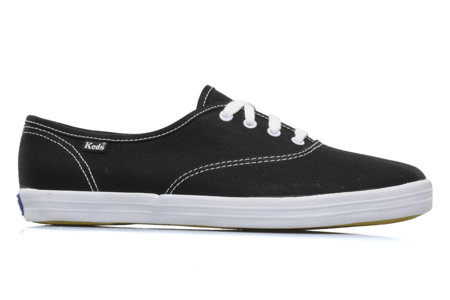 Trainers Keds Champion Canvas Black back view