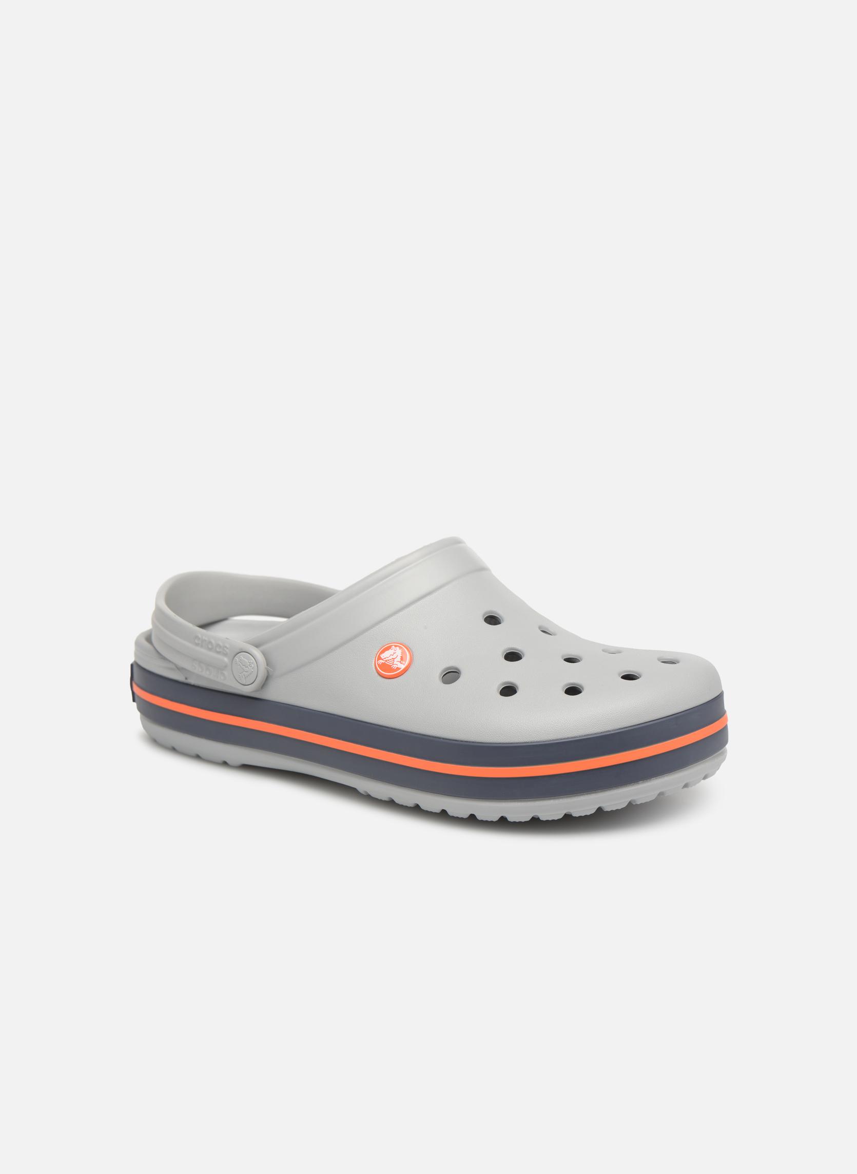 Sandals Crocs Crocband M Grey detailed view/ Pair view