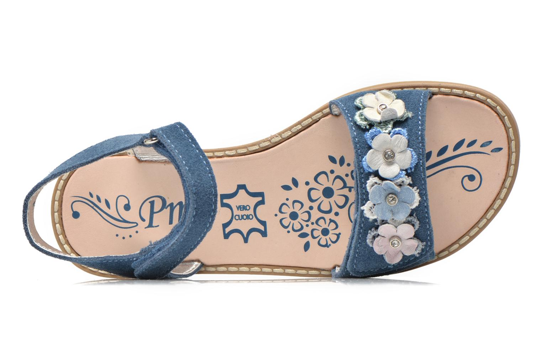Sandalias Primigi Violetta Azul vista lateral izquierda