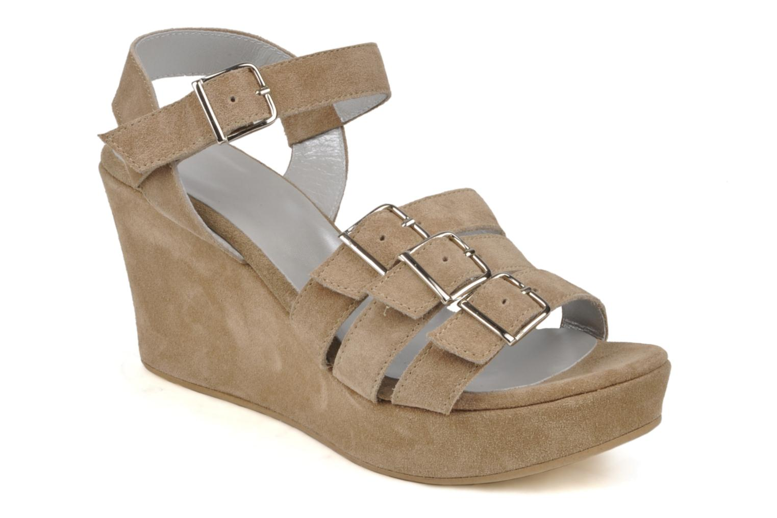 Sandals Planisphere Zoom Beige detailed view/ Pair view