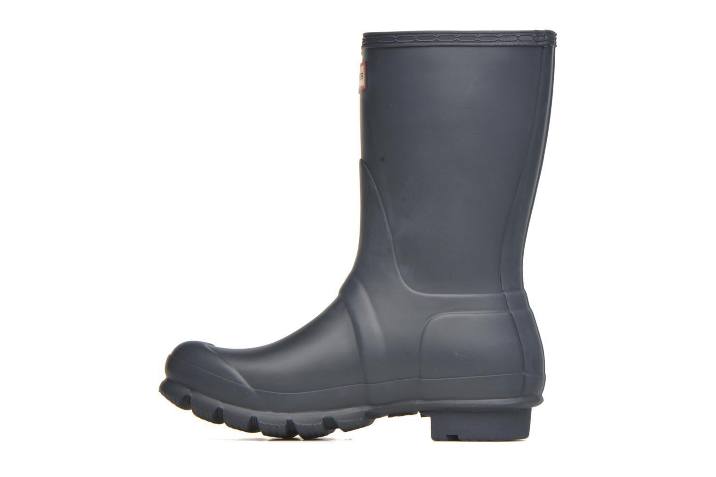 Bottines et boots Hunter Original Short Bleu vue face