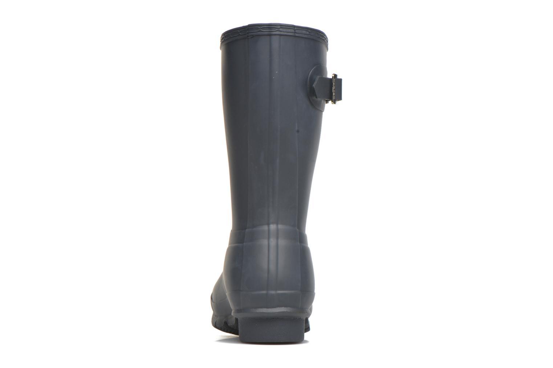 Bottines et boots Hunter Original Short Bleu vue droite