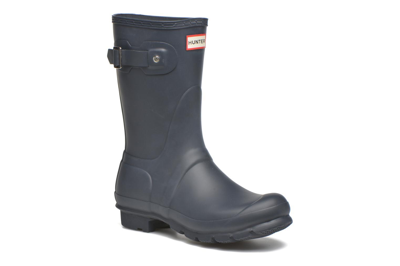 Bottines et boots Hunter Original Short Bleu vue détail/paire