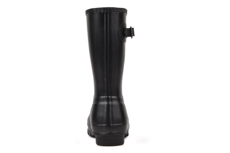 Bottines et boots Hunter Original Short Noir vue droite