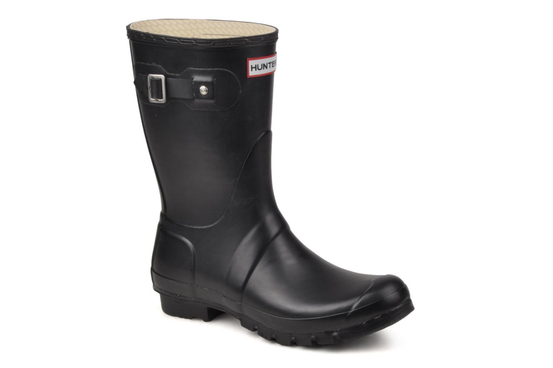 Bottines et boots Hunter Original Short Noir vue détail/paire