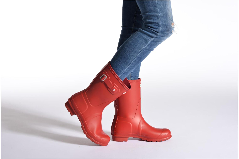 Bottines et boots Hunter Original Short Vert vue bas / vue portée sac