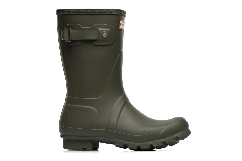 Bottines et boots Hunter Original Short Vert vue derrière