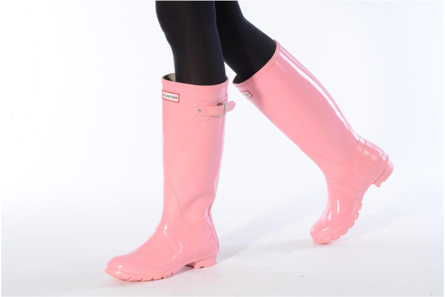 Boots & wellies Hunter Hunter Original Gloss W Grey view from underneath / model view