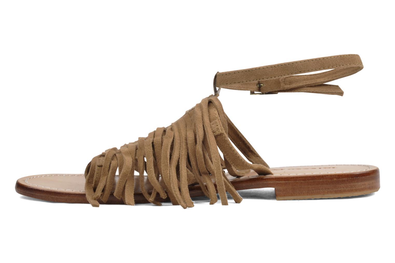 Sandales et nu-pieds Tatoosh Ava Beige vue face