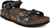Black Glitter Silver