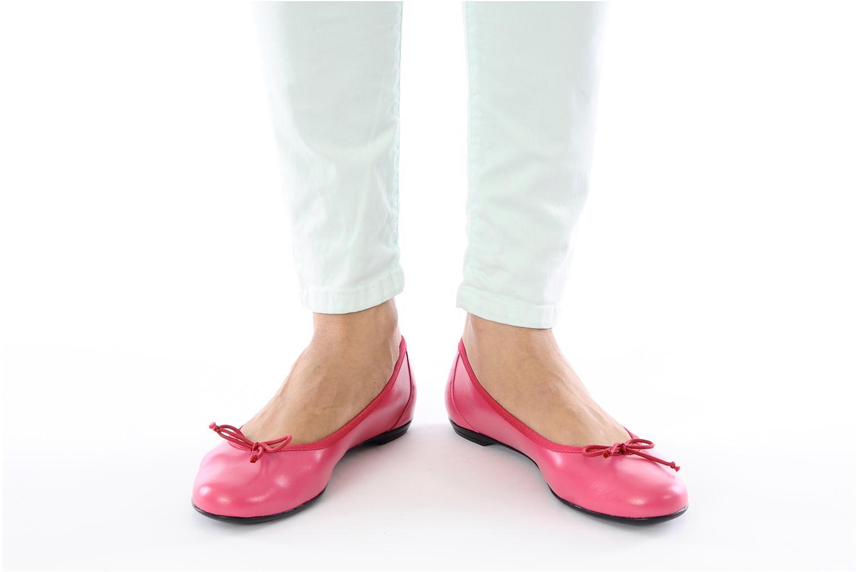 Ballerinas Valensi Vega rosa ansicht von unten / tasche getragen