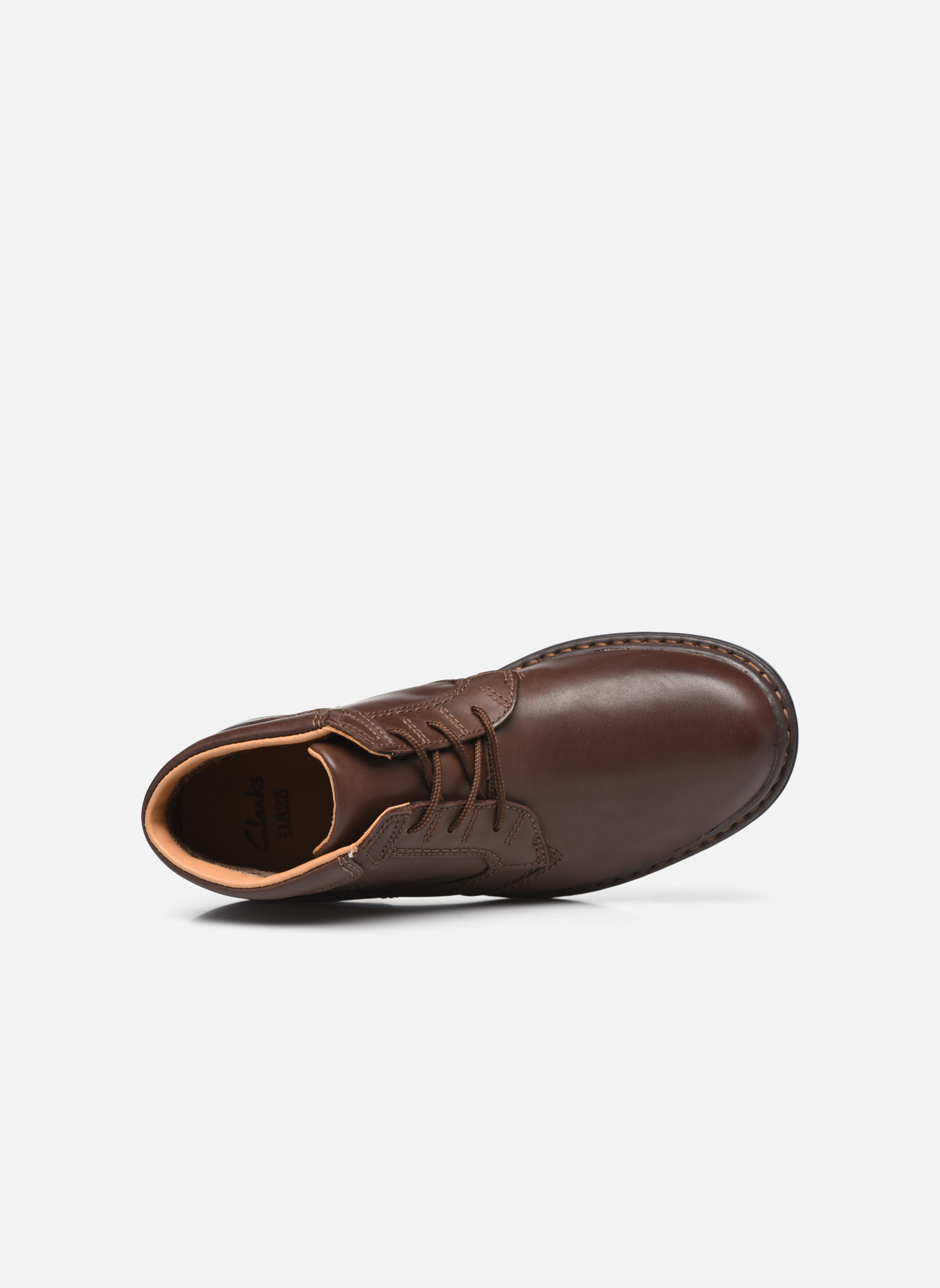 Lace-up shoes Clarks Rockie Hi Gtx Brown view from the left