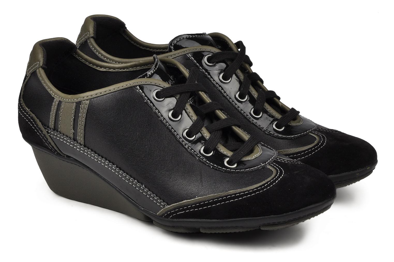 Sneakers Clarks Hustle Bustle Zwart 3/4'