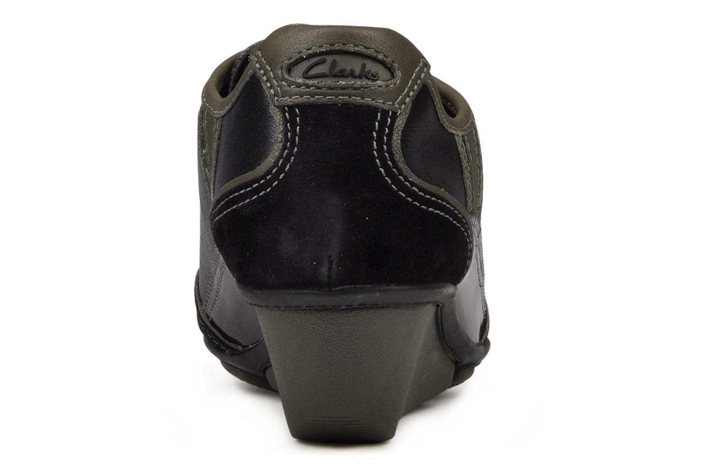 Sneakers Clarks Hustle Bustle Zwart rechts