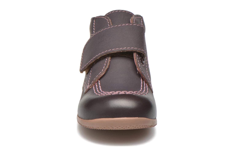 Schoenen met klitteband Kickers Bilou Paars model