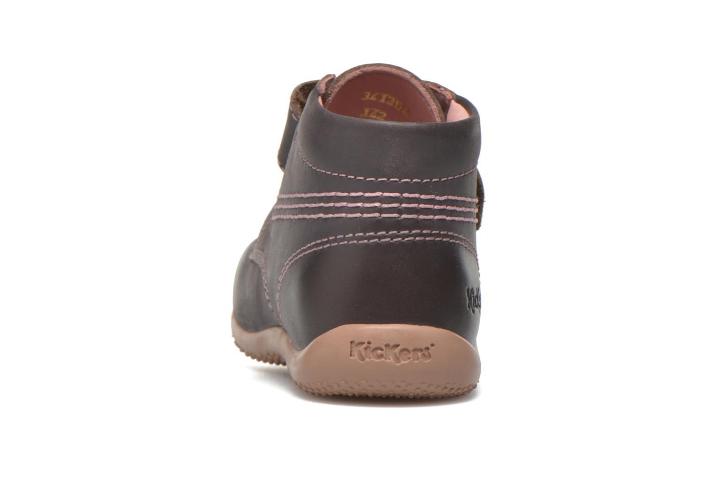 Schoenen met klitteband Kickers Bilou Paars rechts