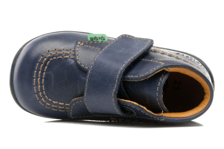 Schoenen met klitteband Kickers Bilou Blauw links