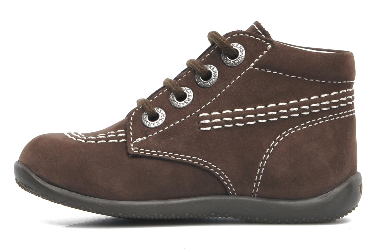 Chaussures à lacets Kickers Billy Marron vue face
