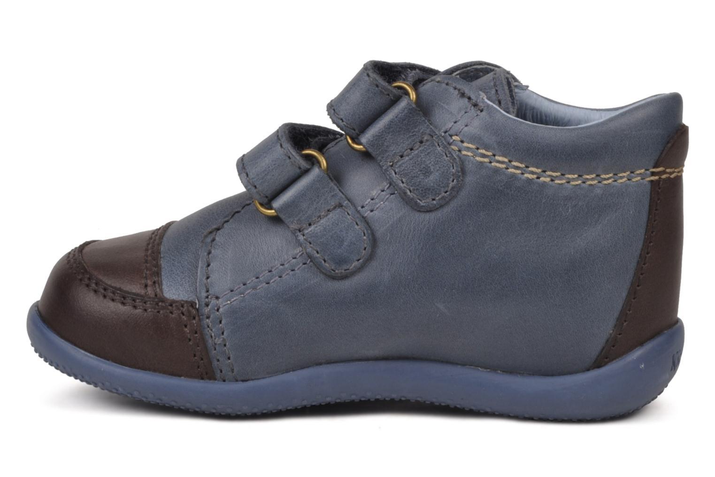 Chaussures à scratch Kickers Bishop Bleu vue face
