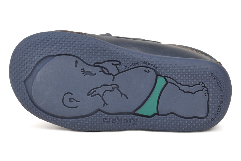 Chaussures à scratch Kickers Bishop Bleu vue haut
