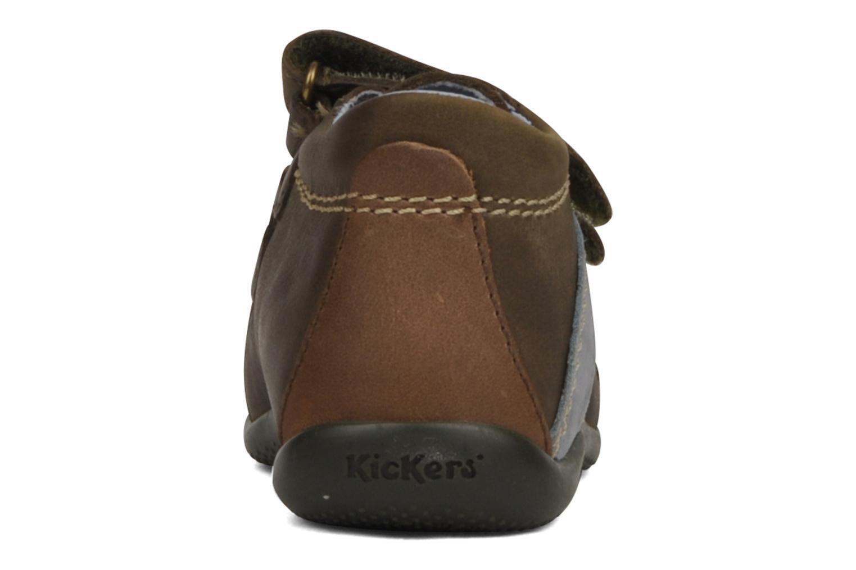 Schoenen met klitteband Kickers Bishop Bruin rechts