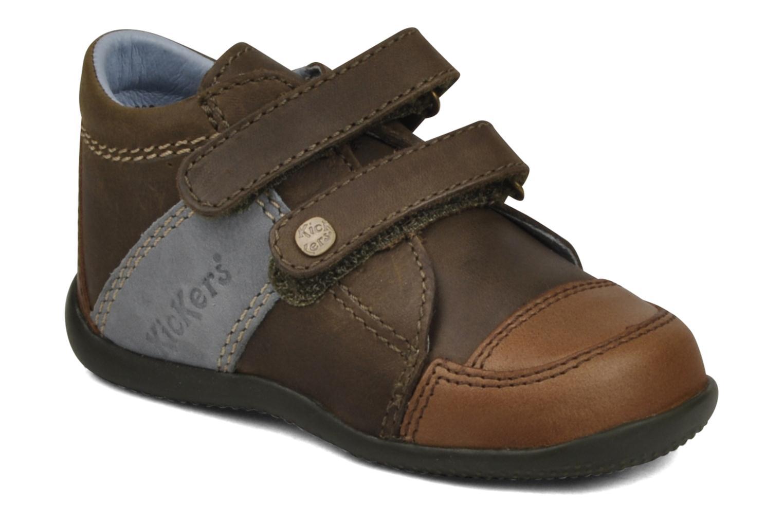 Schoenen met klitteband Kickers Bishop Bruin detail