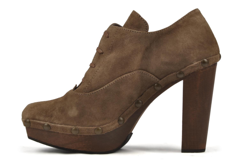 Chaussures à lacets Castaner Katia Marron vue face