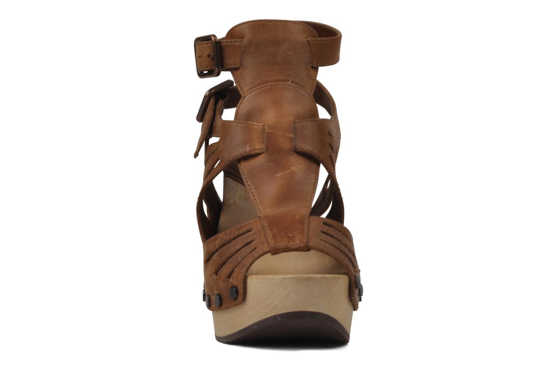 Sandales et nu-pieds Belle Arizona Marron vue portées chaussures