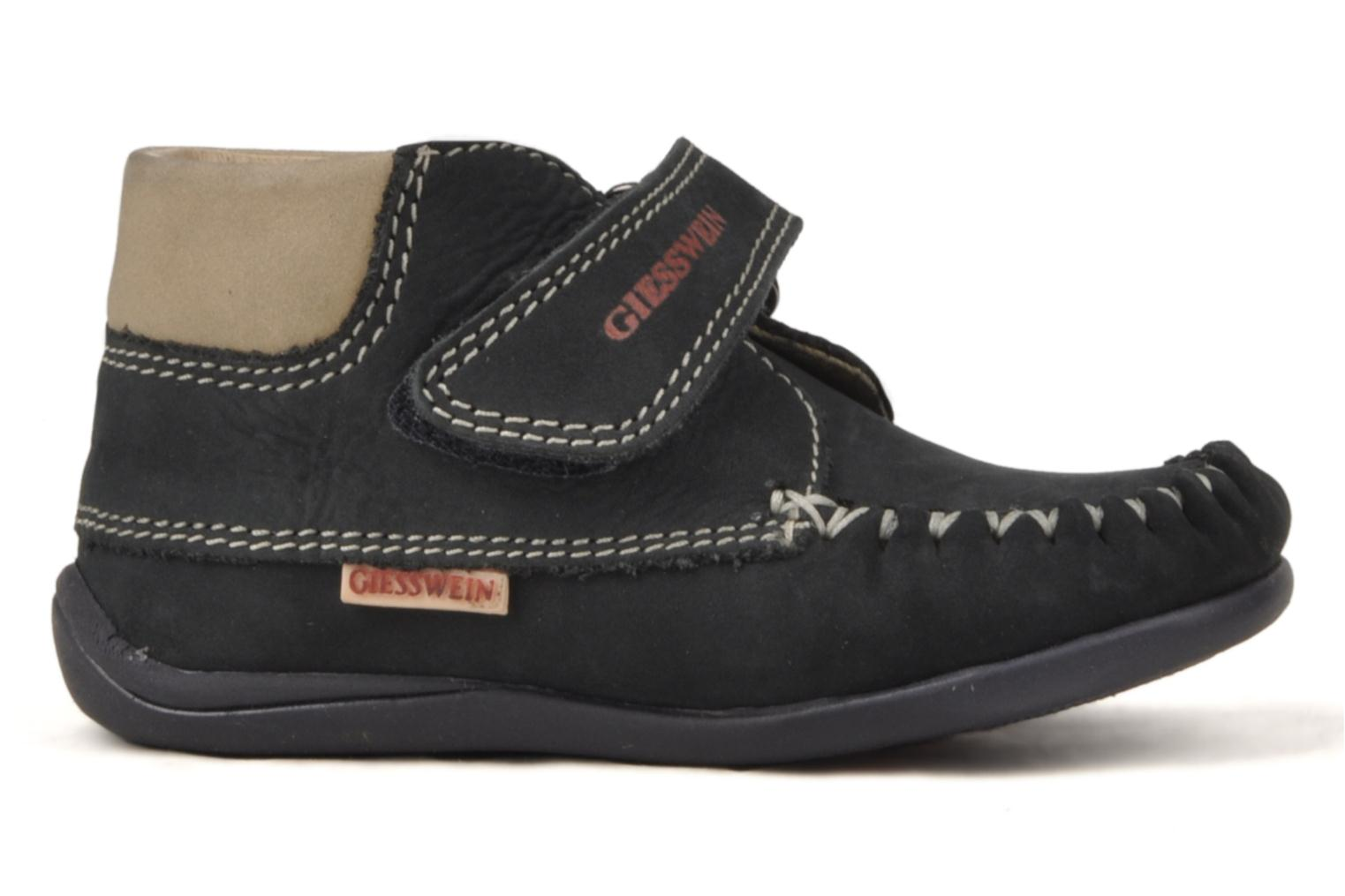 Velcro shoes Giesswein Cottbus Blue back view