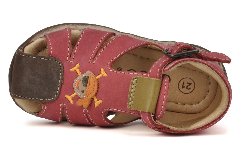 Sandales et nu-pieds Bopy Porsair Rouge vue gauche