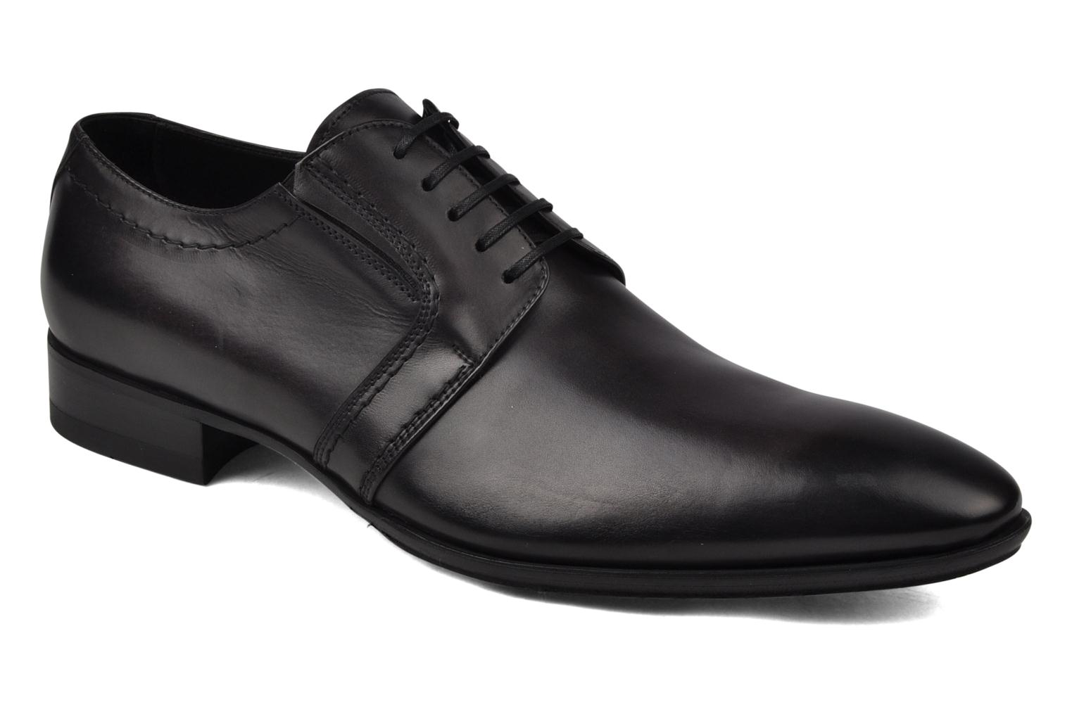 Lace-up shoes Doucal's Henry  Grey detailed view/ Pair view