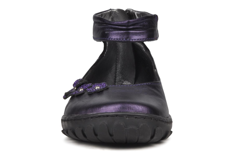 Ballerines Pom d Api CUTE ROCK FLOWERS Violet vue portées chaussures