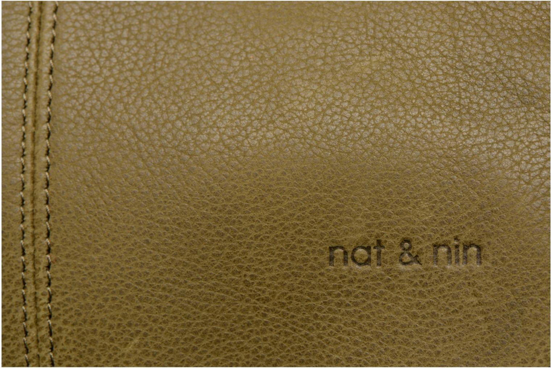 Handtaschen Nat & Nin Lola grün ansicht von links