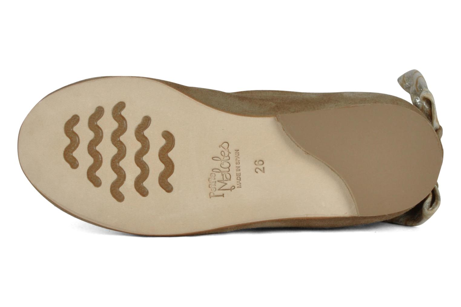 Petite Celia Suede Beige Graphic Silver Leather