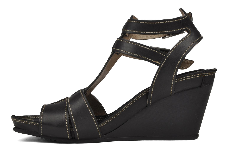 Sandales et nu-pieds Palladium SHEIMA Noir vue face