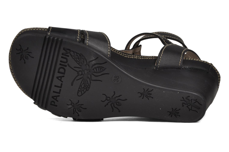 Sandales et nu-pieds Palladium SHEIMA Noir vue haut