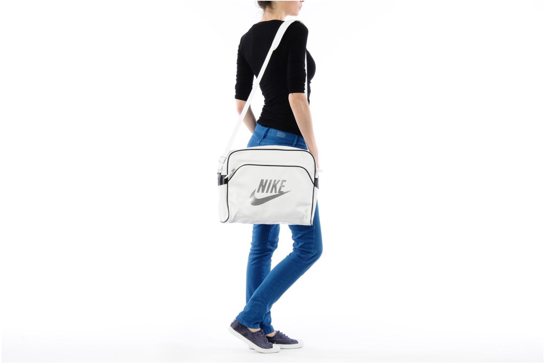 Borse uomo Nike Heritage SI Track Bag Bianco immagine dall'alto