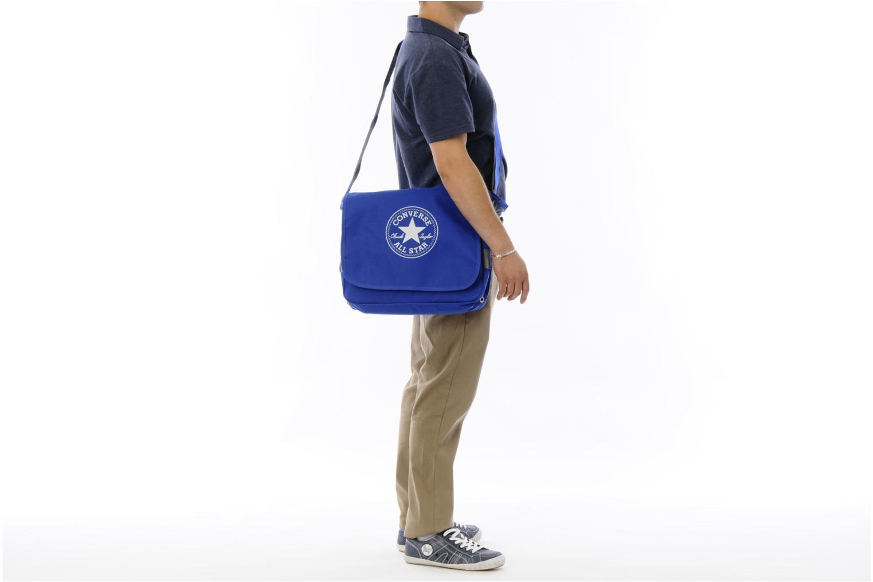 Porta PC Converse Messenger Bag Azzurro immagine dall'alto