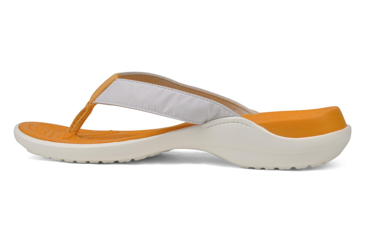 Tongs Crocs Capri Blanc vue face