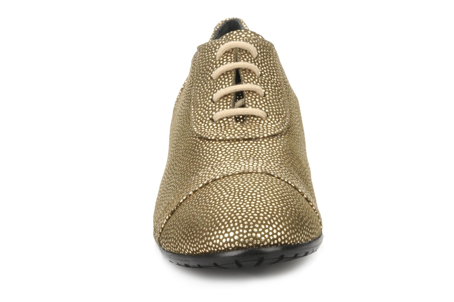 Lace-up shoes Maloles Dorothy Bronze and Gold model view