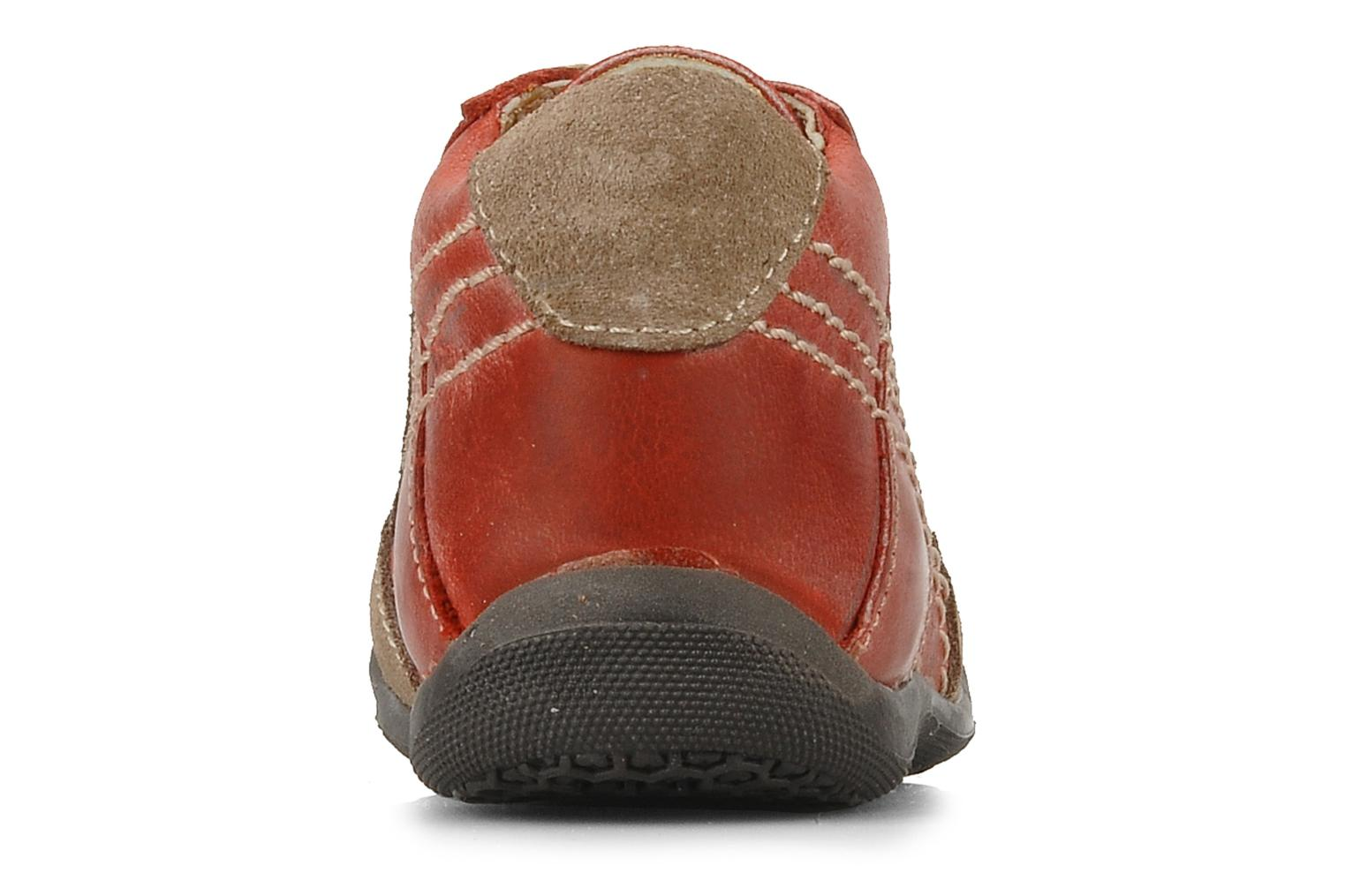 Ankle boots Natik 22507B Red view from the right