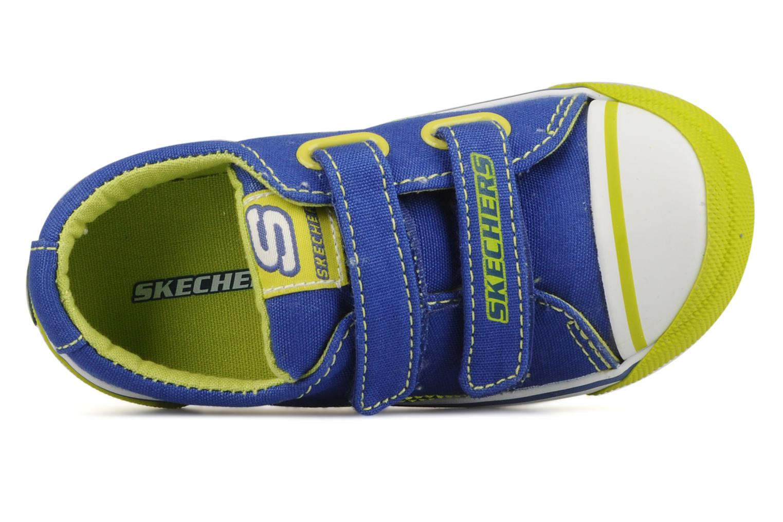Trainers Skechers Papoose Blue view from the left