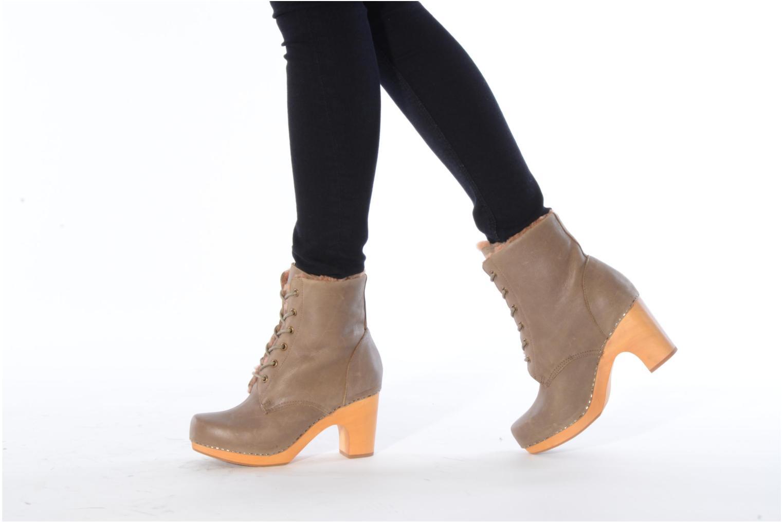 Bottines et boots Jeffrey Campbell Erikson Fur Vert vue bas / vue portée sac