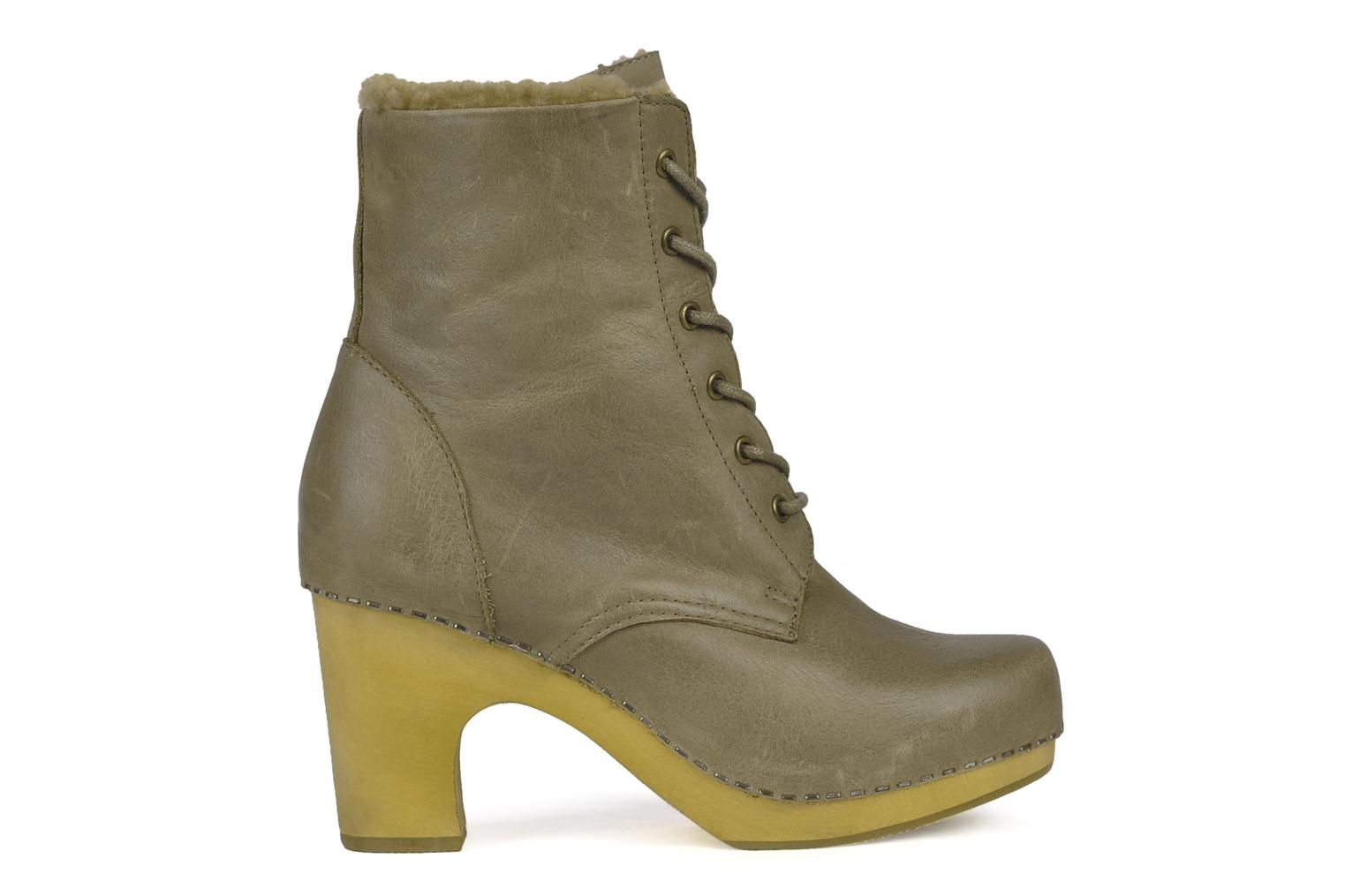Ankle boots Jeffrey Campbell Erikson Fur Green back view