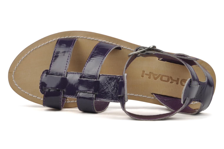 Sandales et nu-pieds Koah Ital Violet vue gauche