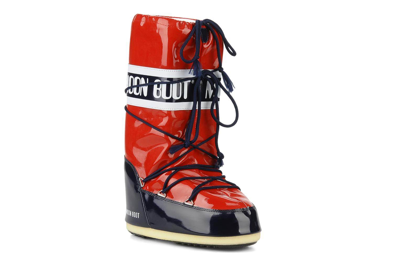 Chaussures de sport Moon Boot Vinil Rouge vue détail/paire