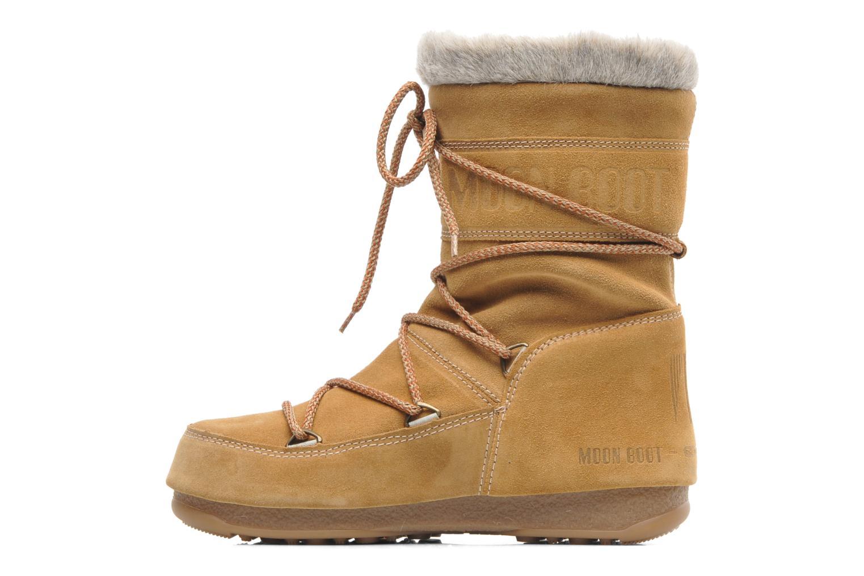Bottines et boots Moon Boot Butter mid Marron vue face